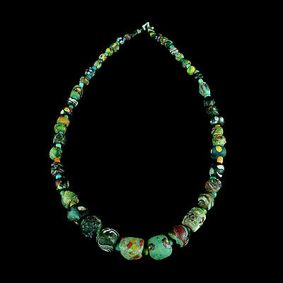 "A Roman to Islamic ""Gabri"" glass bead necklace. x8913"