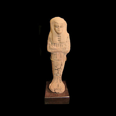 Egyptian Pottery ushabti with hieroglyphs New Kingdom 1293-1069 B.C.   a7964