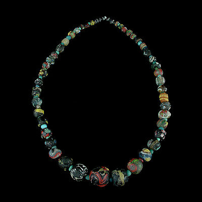"A Roman to Islamic ""Gabri"" glass bead necklace. x8912"