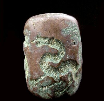 Bactrian copper bead seal. Circa 2nd Millennium B.C.  x9198