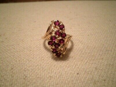 PRETTY 1.50ct Natural RUBY 14K Yellow Gold Ring Size- 6.5