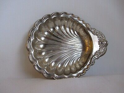 Vintage Sea Shell Clam Silverplate Candy Nut Dish Bowl
