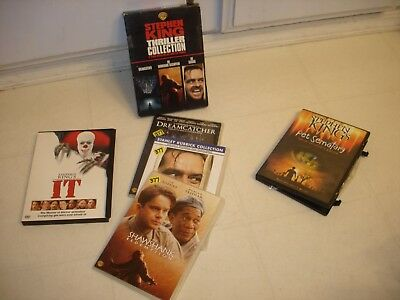 Lot of 3 horror dvd,, Stephen King's (IT-PET SEMATARY-THRILLER COLLECTION 3 PC