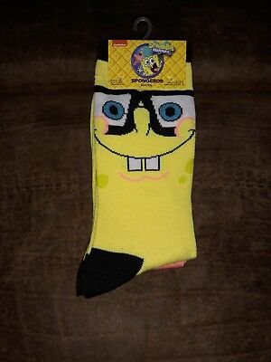 a49d8a12de0d6 2 Pair Spongebob Squarepants Patrick Nickelodeon NWT 2 Pair Socks Fits 6-12
