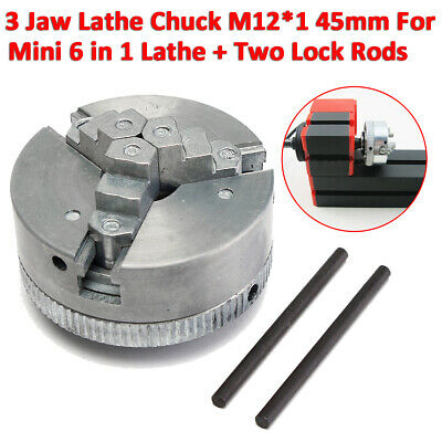 2 3 Jaw Lathe Chuck CNC Lathe Milling Self Centering For Mini 6 in 1 Lathe 45mm