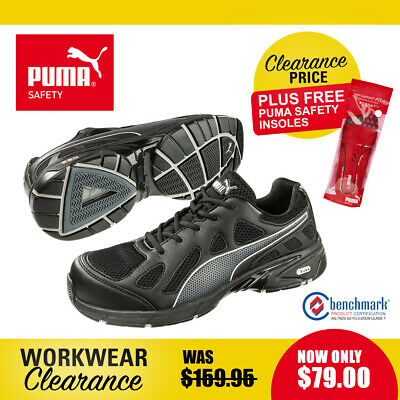 Puma Safety Work Boots with Toe Cap 642487 Pursuit Black NEW with Free Insoles