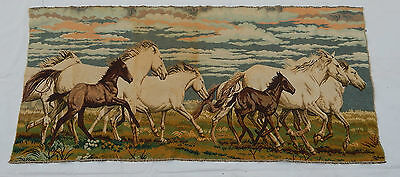 Vintage French Beautiful horses Scene Tapestry 150x69cm (T565)