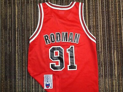 sale retailer 588f0 f6a71 BOYS LIGHTLY WORN Vitg Dennis Rodman Champion Chicago Bulls ...