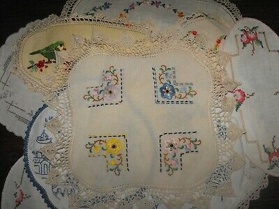 Tray Liners Doilies Rectangle Round ReTRo Vintage Table Linen Bulk Lot 14 Pieces
