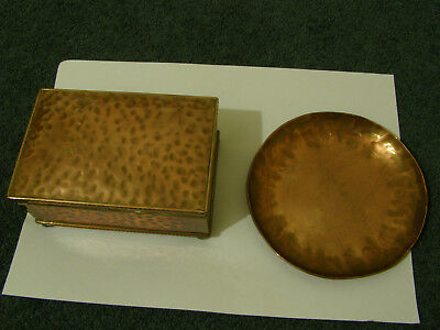 coper box and coper dish, Cobral box made, Salcombe dish