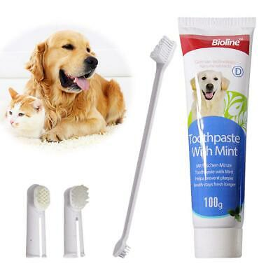Pet Toothbrush Cheese Toothpaste Set Dog Cat Sterilization Oral Tooth Care Kit