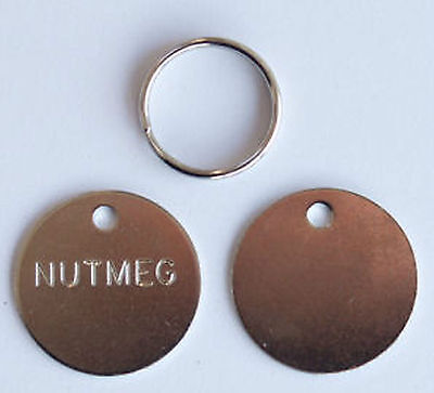 Cat Dog Silver Nickel Disc Disk Tag 25mm or 20mm FREE ENGRAVING BUY 1GET1 FREE