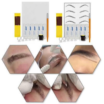 Permanent Makeup Microblading Eyebrow Tattoo Kit Practice Skin Tattoo Needle Kit