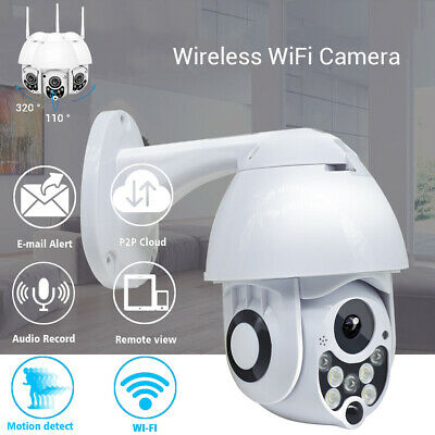 Wireless Wifi 2MP 1080P PTZ Camera CCTV Dome Cam Outdoor Cloud Storage Infrared