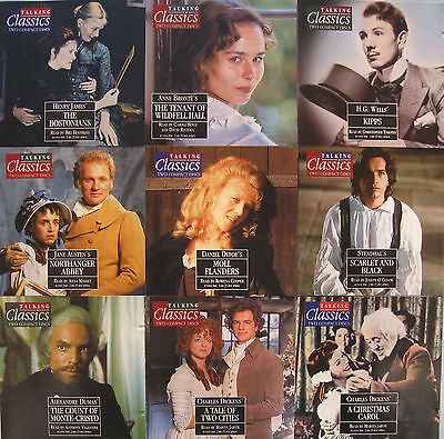 TALKING CLASSIC NOVELS x 16 TITLES 61 TO 76 ON TWIN CD'S PLUS MAGAZINES + BINDER