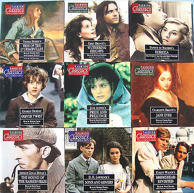 TALKING CLASSIC NOVELS x 15 TITLES 1 TO 15 ON TWIN CD'S PLUS MAGAZINES & BINDER