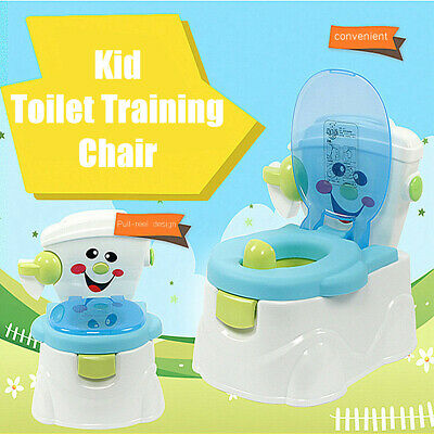 AU Baby Toddler Toilet Trainer Children Pee Training Potty Seat Chair Removable