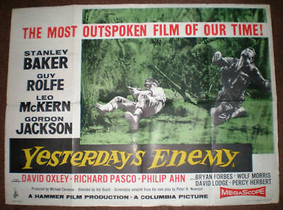 YESTERDAY'S ENEMY quad poster