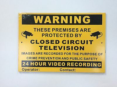 SIGN CCTV Security Crime Prevention. BRAND NEW Unused In Cellophane