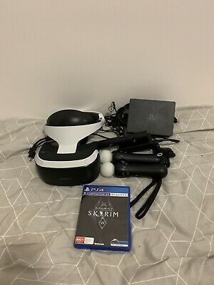Sony PlayStation VR Headset Includes Controls And All The Cords Plus VR Skyrim