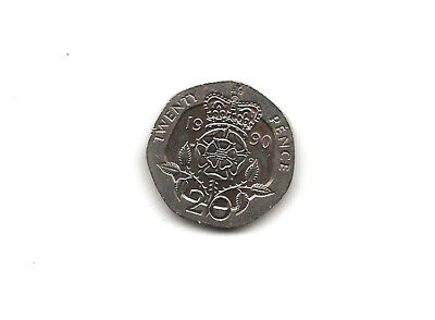 1990 20p Coin Twenty Pence UNCIRCULATED Queen Elizabeth 2nd English Currency