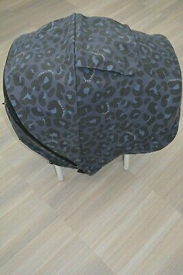 NEW Mamas and Papas Tiba and Marl Leopard Print URBO Replacement Hood / Canopy