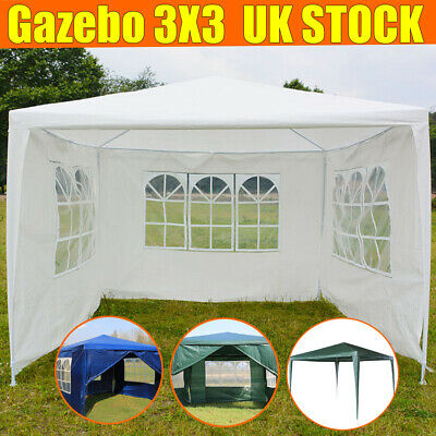 3x3/6m Gazebo Marquee Party Tent Waterproof Garden Patio Outdoor Canopy 4 Sides