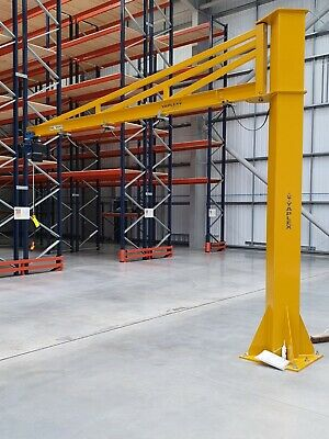 JIb Crane complete with Demag Electric Chain Hoist 500kg Overbraced