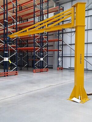 Jib Crane complete with Demag Electric Chain Hoist 1000kg Overbraced 1T