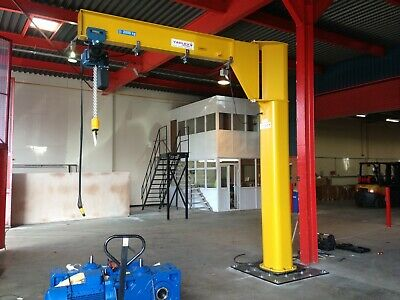 Jib Crane complete with Demag Electric Chain Hoist 1000kg Underbraced 1T