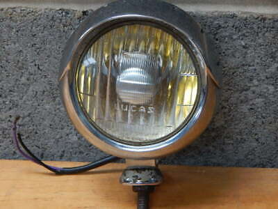 1950/60's LUCAS 4 FT HOODED SPOT / FOG LAMP FORD ANGLIA CLASSIC CAR LAMBRETTA