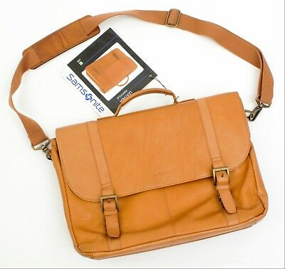 Samsonite Tan (Light Brown) Leather Portfolio - Model #923670