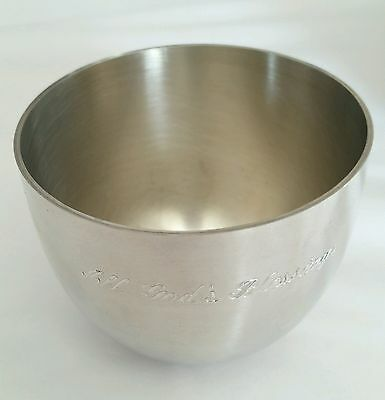 VTG Monticello Thomas Jefferson Kirk Stieff P50 Pewter Cup All Gods Blessings US