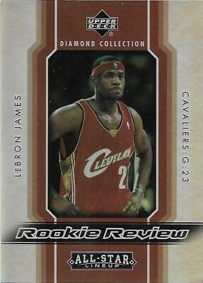 5730ab22b385 2004-05 Upper Deck Diamond Collection LeBRON JAMES Cavaliers Rookie Review  RR14