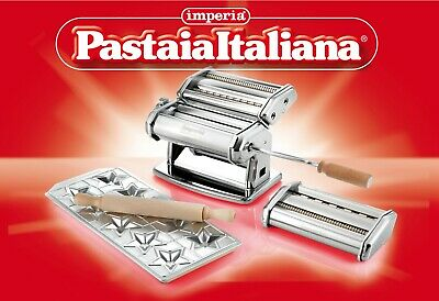 Set Pastaia Italiana Imperia Nudelmaschine Pasta Noodle Machine Pates Made Italy