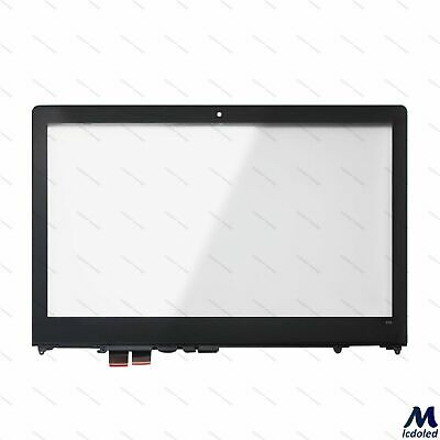 "15.6"" Touch Screen Digitizer Glass Panel with Bezel for Lenovo Flex 4 1570 80SB"