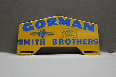 John Deere Chevy Smith Brothers Plate Topper Porcelain Sign Gas Oil Car Farm 66