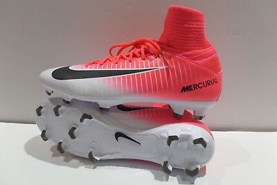 Nike Jr Mercurial Superfly V FG Soccer Cleats Pink 831943-601 Youth Size 5-5.5
