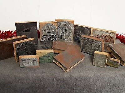 Job Lot Vintage Printing / Screening Blocks