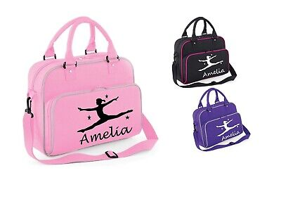 Personalised Girls Gymnastics Shoulder Dance Bag Ballet School Gym Kit