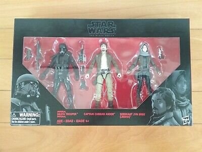 Sw Serie Negra 3pack Imperial Death Trooper-Capt Cassian Andor-Serg Jyn Erso