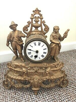 French Gilt Style Mantle Clock