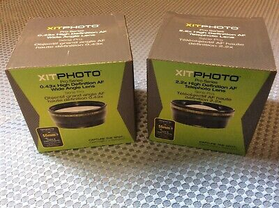 XIT Photo Pro Series 2-Pc Lens Kit Hi-Def AF Telephoto & WideAngle Lens Set 55mm