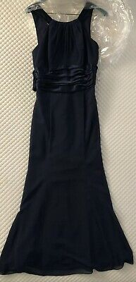 9a76e2b036fa DAVIDS BRIDAL STYLE F12732 Navy Blue Bridesmaid Party Dress Empire ...