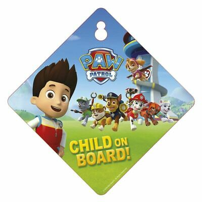 Paw Patrol Child On Board Car Window Sign Safety & Awareness Skye Marshall