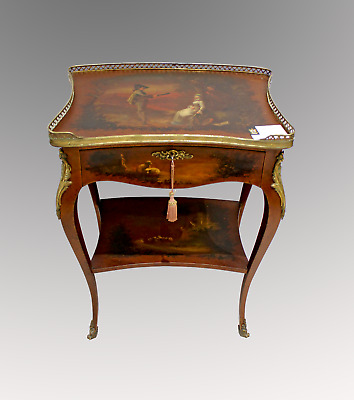 A Beautiful 19Th Century Vernis Martin Lacquered Side Table
