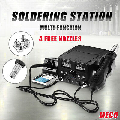 2 In 1 750W LCD Soldering Iron Station Desoldering Hot Air Rework Heater Tool *