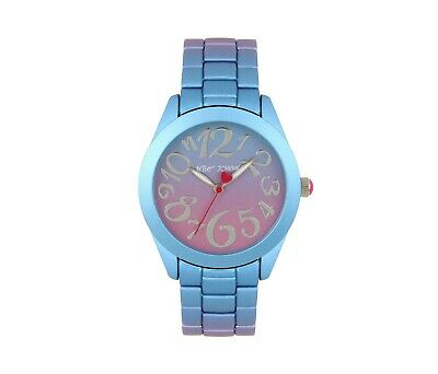 Betsey Johnson Rainbow Dreams Blue Multi Stainless Steel Watch BJ00706-01 NWT