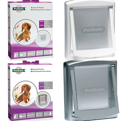 Petsafe - Staywell Small Dog Door / Cat Flap - White / Silver
