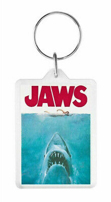 Jaws -Classic Steven Spielberg Cult Film Poster -Large Keyring -Ideal Gift